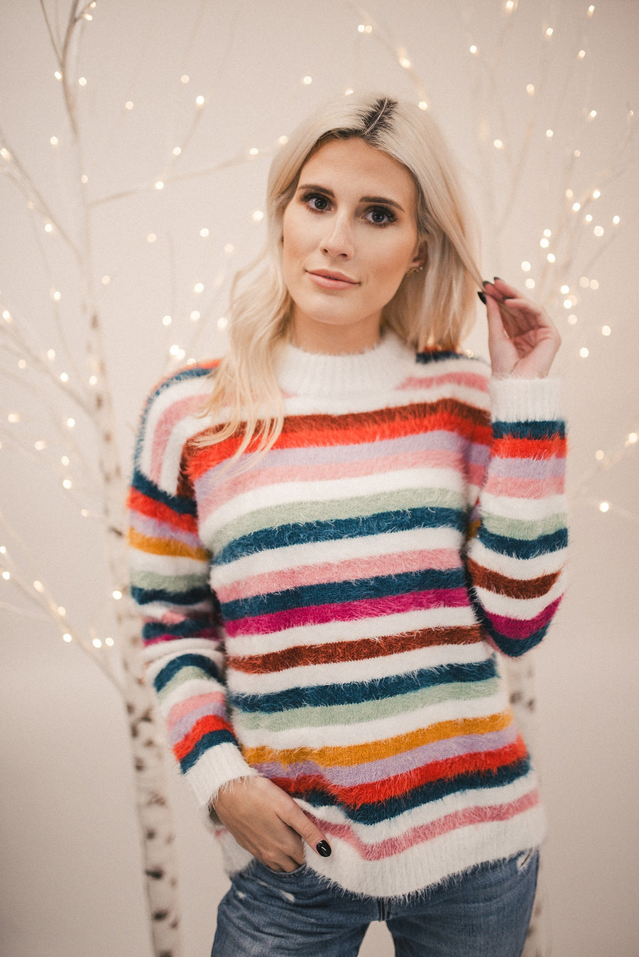 MINK PINK: DEBBY STRIPE SWEATER