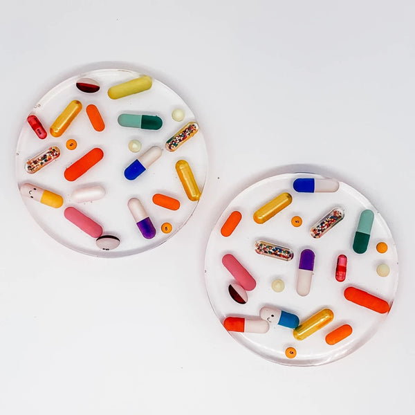 TART BY TAYLOR: CLASSIC PILL COASTERS-SET OF 2