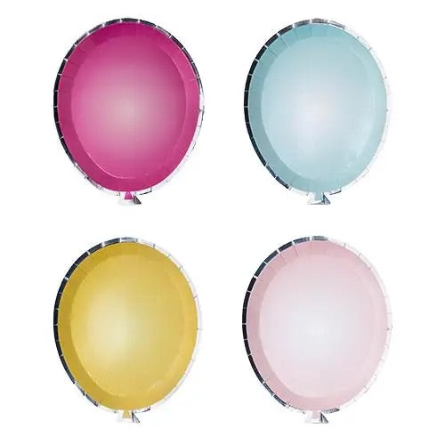 BALLOON PLATES-MIXED PACK