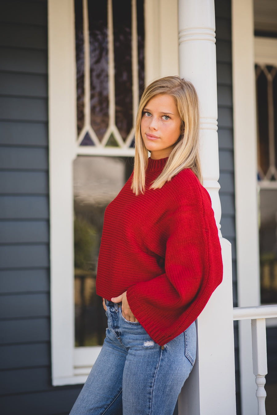 JACK BY BB DAKOTA: NECK YOURSELF WIDE SLEEVE SWEATER