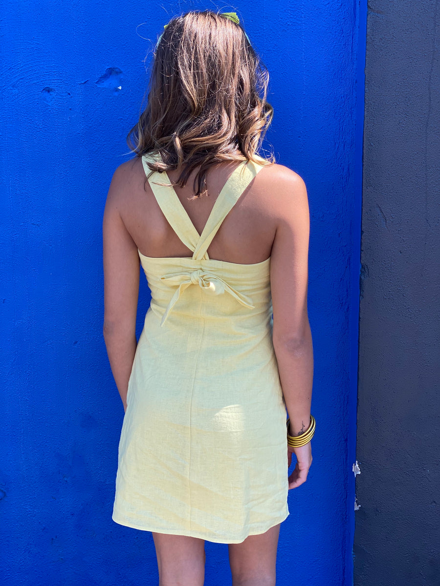 MINK PINK: EXACTLY HOW YOU ARE DRESS-LEMON