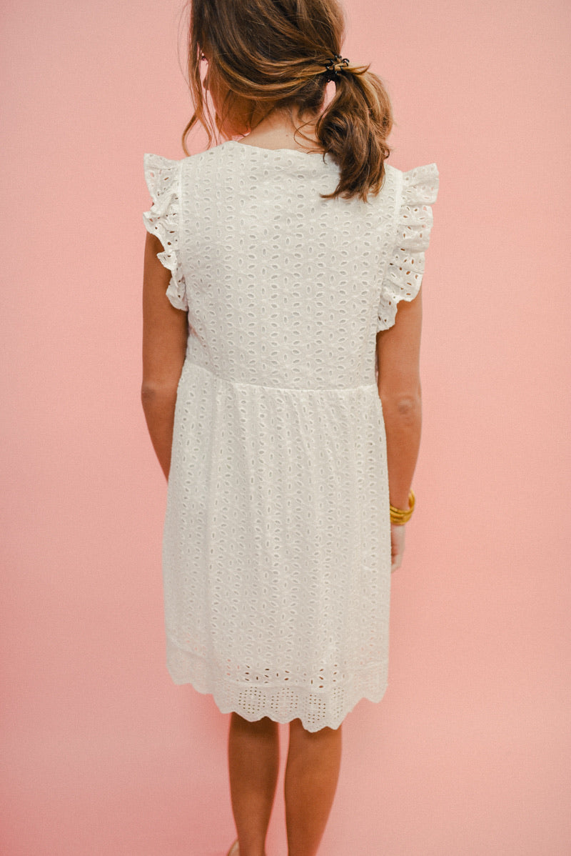 GOOD INTENTIONS EYELET BABYDOLL DRESS