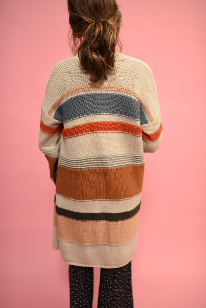 SALTWATER LUXE: ROAMER SWEATER -MULTI STRIPE