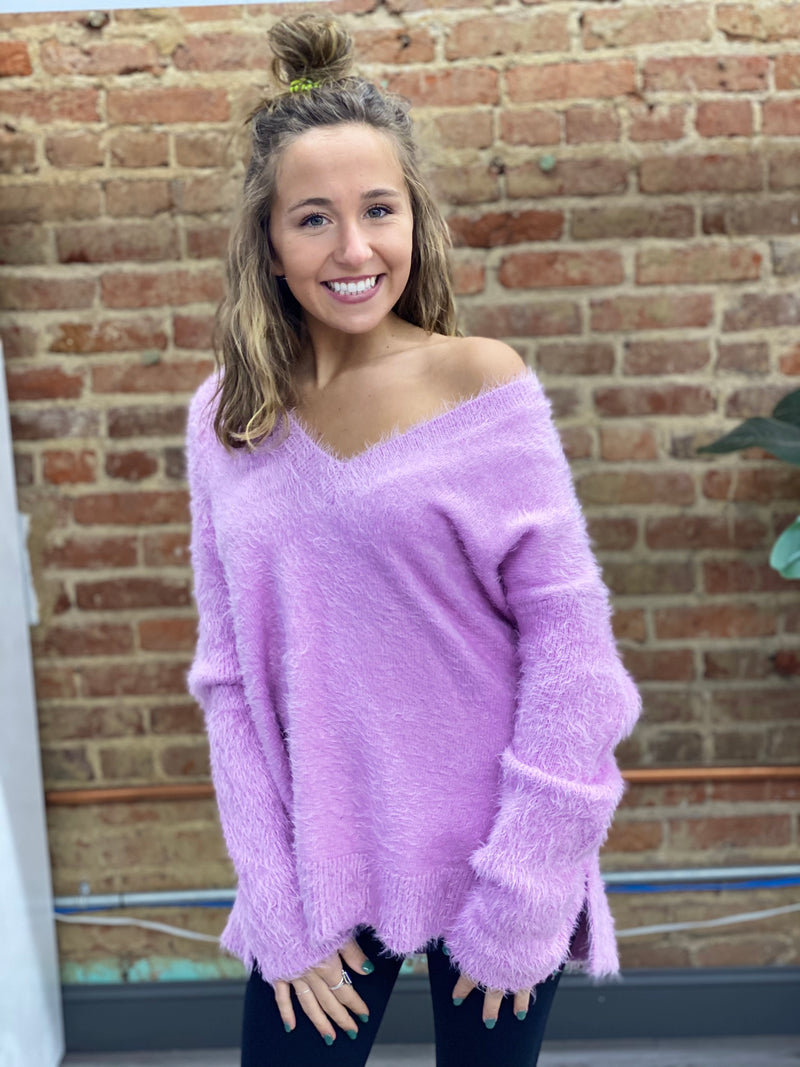 SHOW ME YOUR MUMU: COZY FOREVER SWEATER-PRETTY PINK KNIT