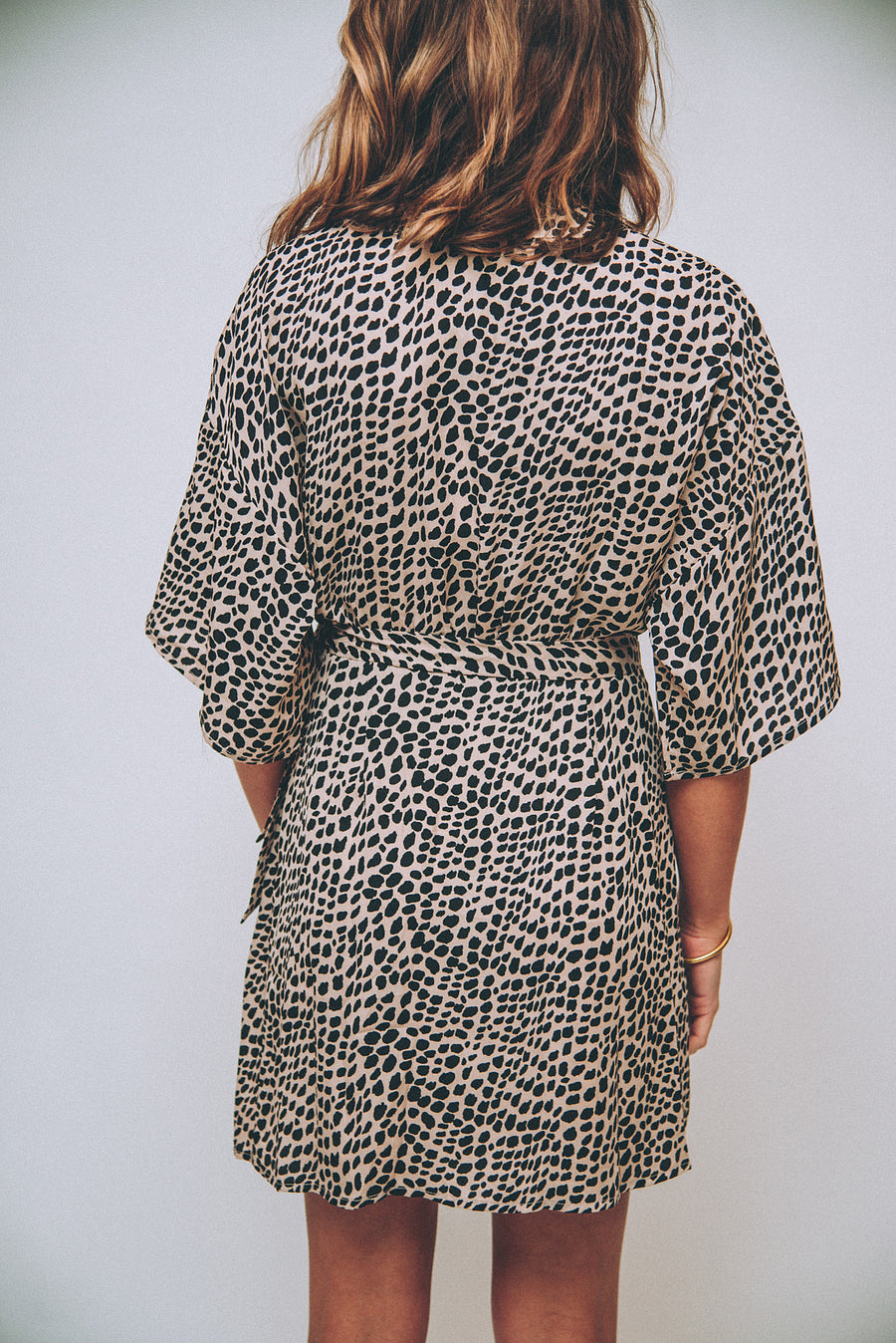 HOT NIGHTS CHEETAH WRAP DRESS