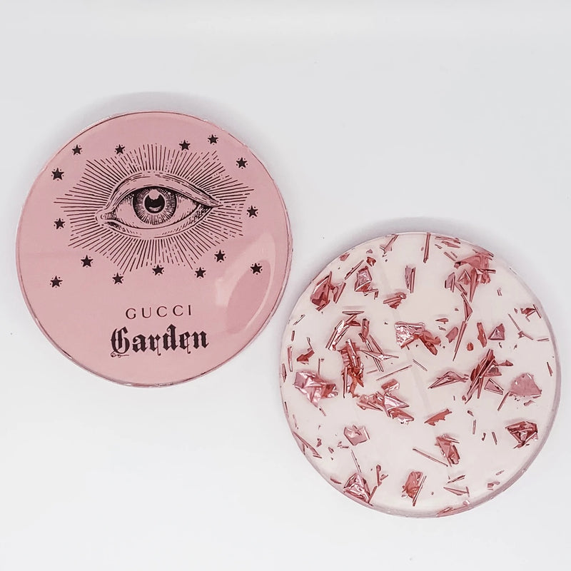 TART BY TAYLOR: GUCCI GARDEN PINK COASTERS-SET OF 2