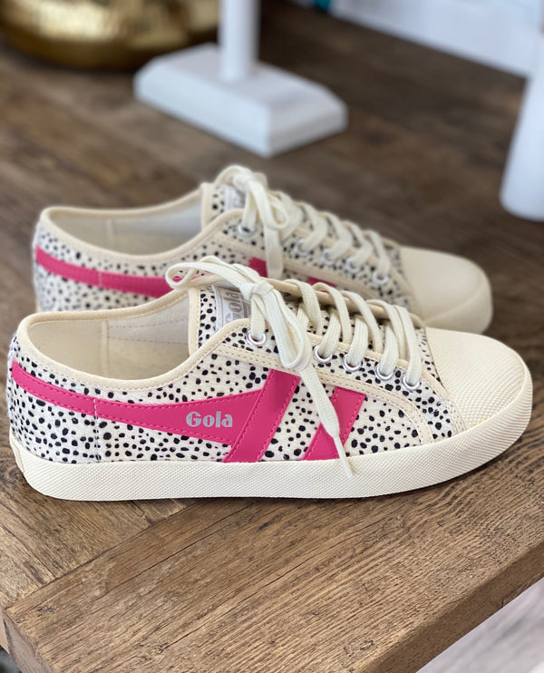 GOLA: COASTER CHEETAH-OFF WHITE/PINK