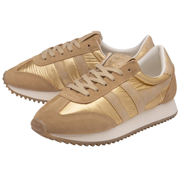 GOLA: CLASSICS BOSTON '78 METALLIC SNEAKERS-GOLD