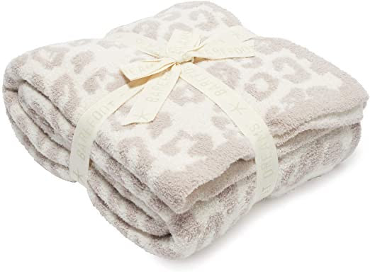 BAREFOOT DREAMS: COZYCHIC BAREFOOT IN THE WILD THROW-CREAM/STONE
