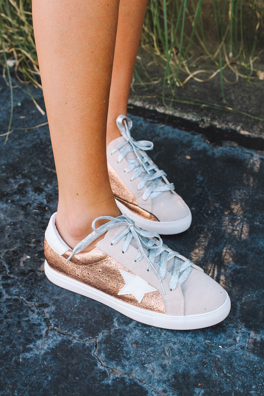 STAR OF THE SHOW SNEAKERS-ROSE GOLD
