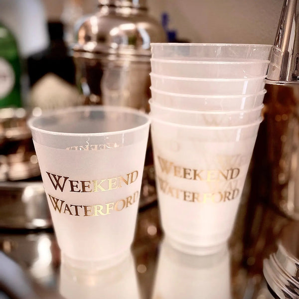 WEEKEND WATERFORD REUSABLE CUPS-SET OF 10