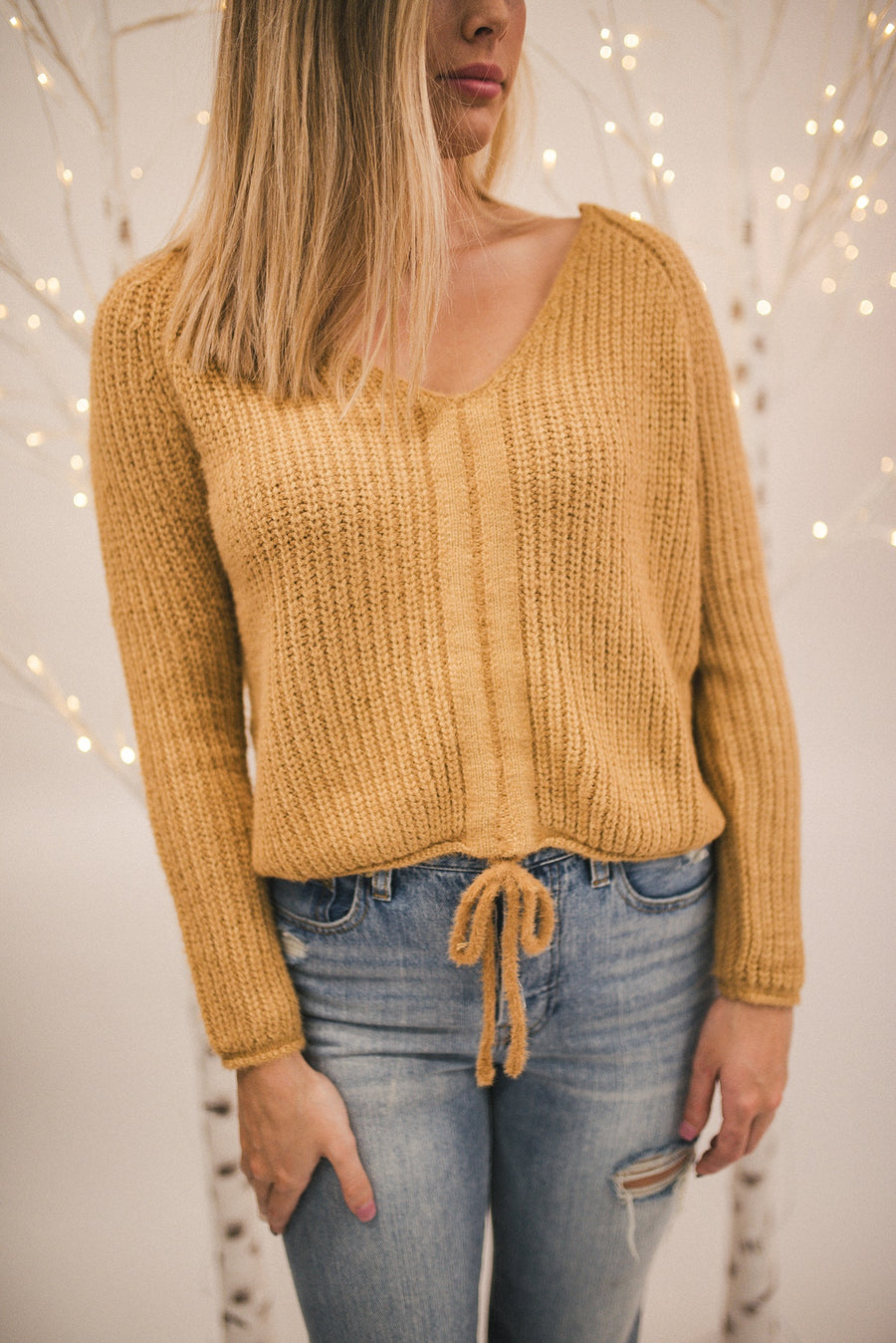SWING MY WAY CROP SWEATER