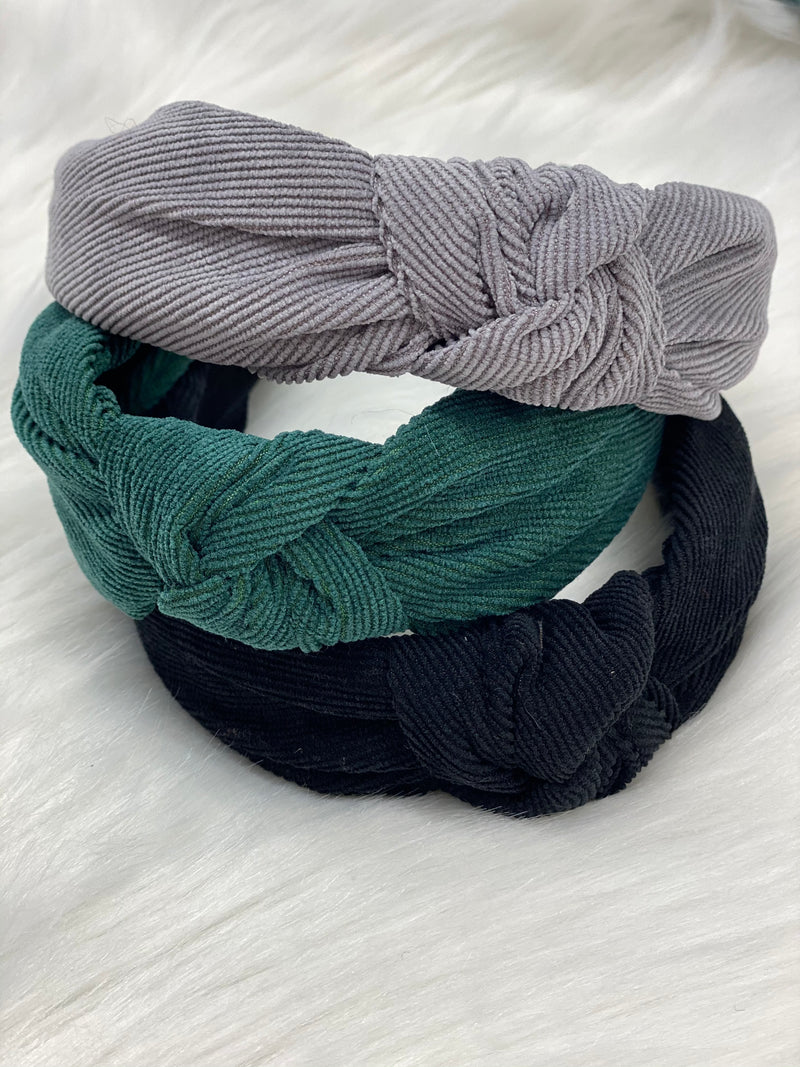THE CORDUROY TOP KNOT HEADBAND