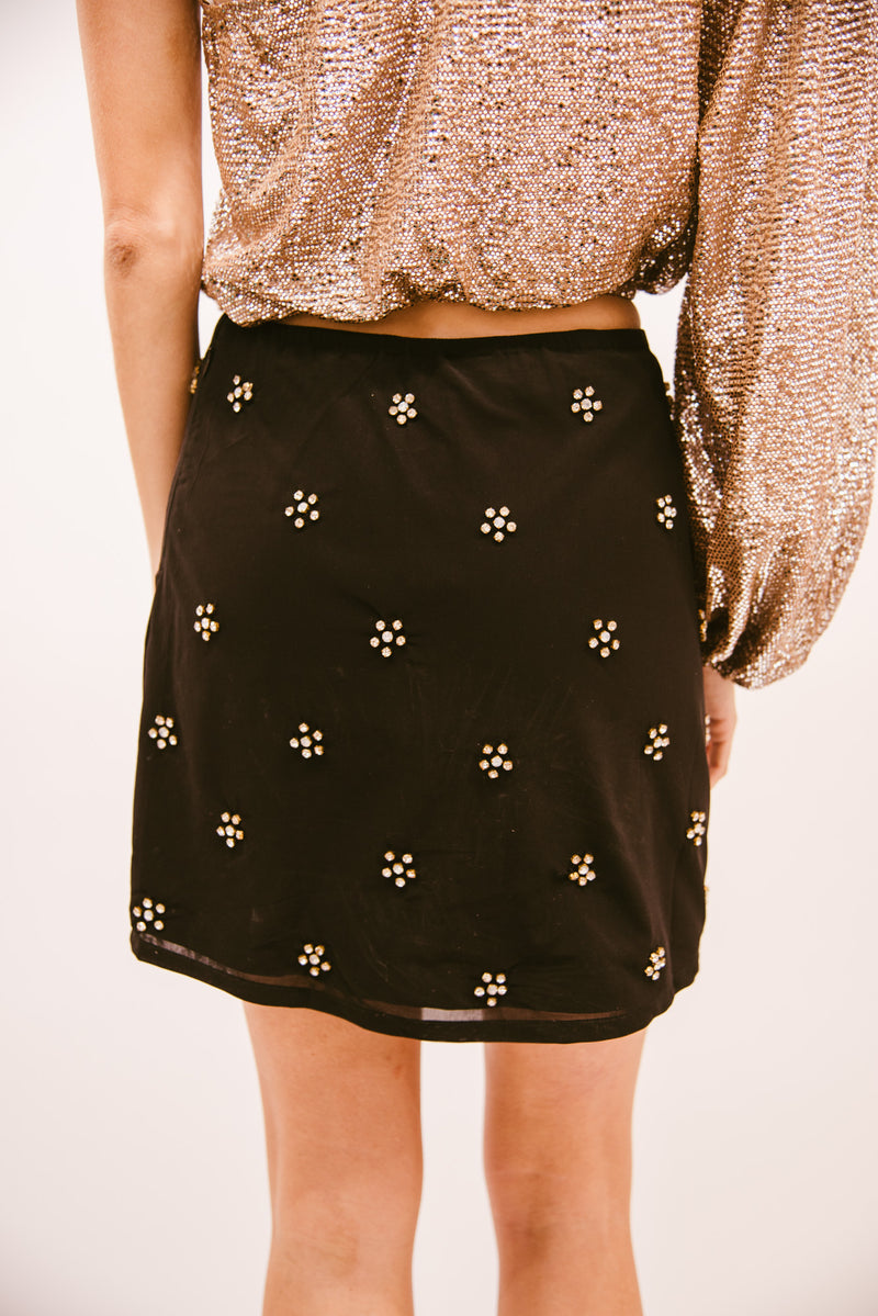SHOW ME YOUR MUMU: GILES MINI SKIRT- FLASHY FLOWERS