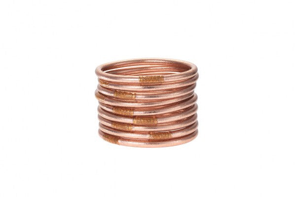 BUDHA GIRL: ALL WEATHER ROSE GOLD BANGLES