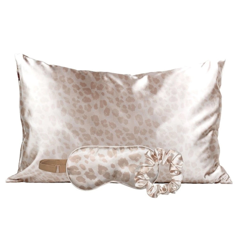 KITSCH: SATIN SLEEP SET-LEOPARD