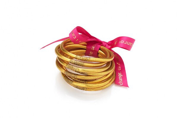 BUDHA GIRL: ALL WEATHER GOLD BANGLES- SERENITY PRAYER