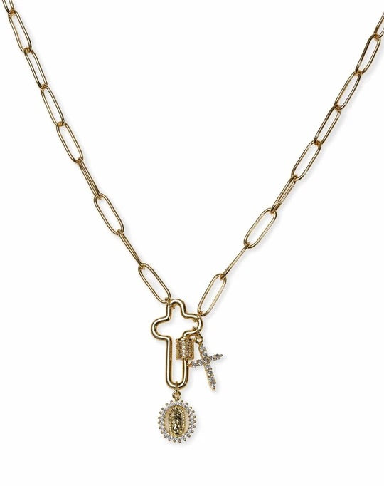 BRACHA: KEEP FAITH CHARM NECKLACE