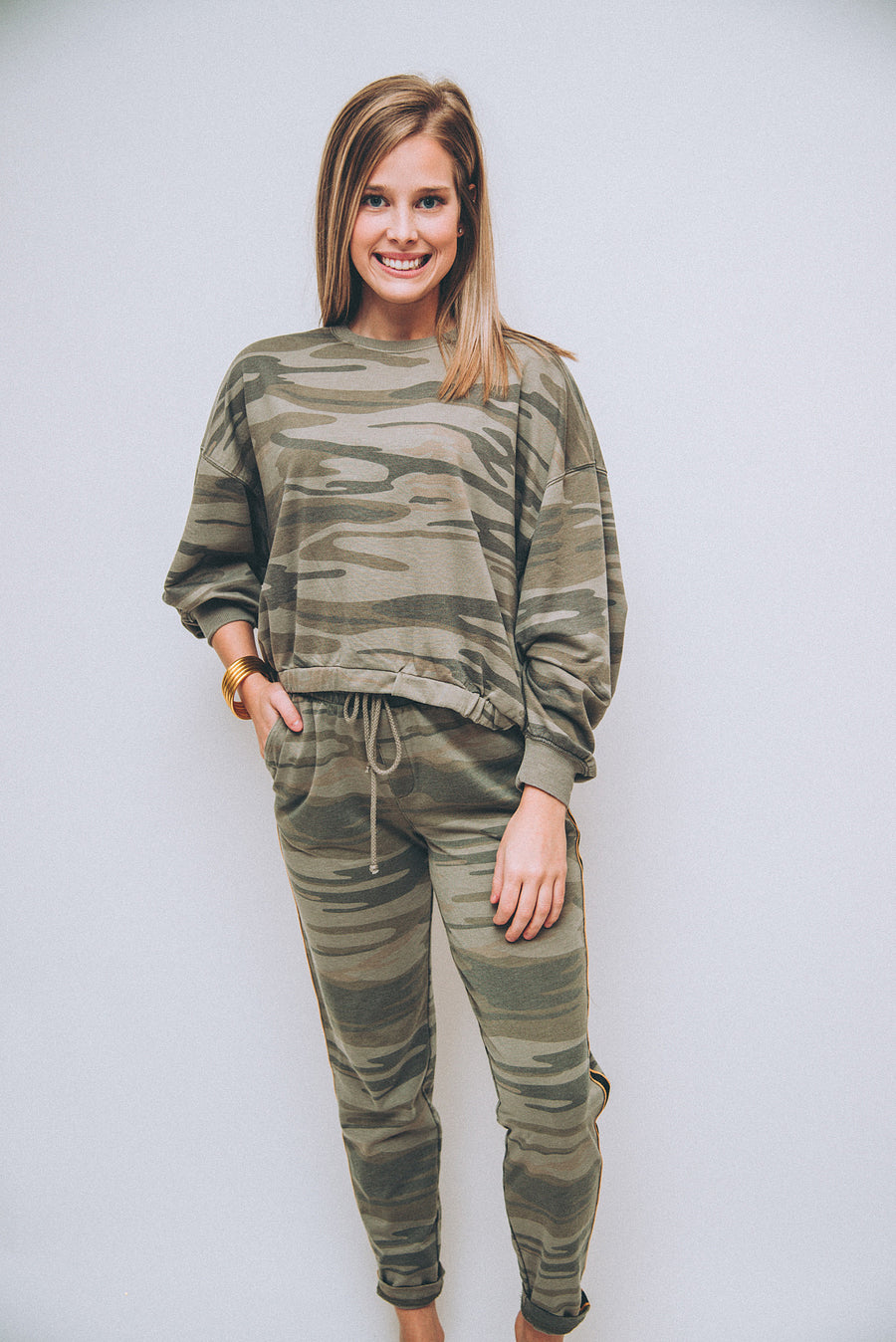 Z SUPPLY: CAMO SPORTY JOGGER-LIGHT SAGE