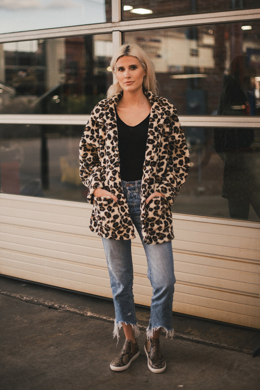 Z SUPPLY: THE LEOPARD SHERPA TEDDY BEAR COAT