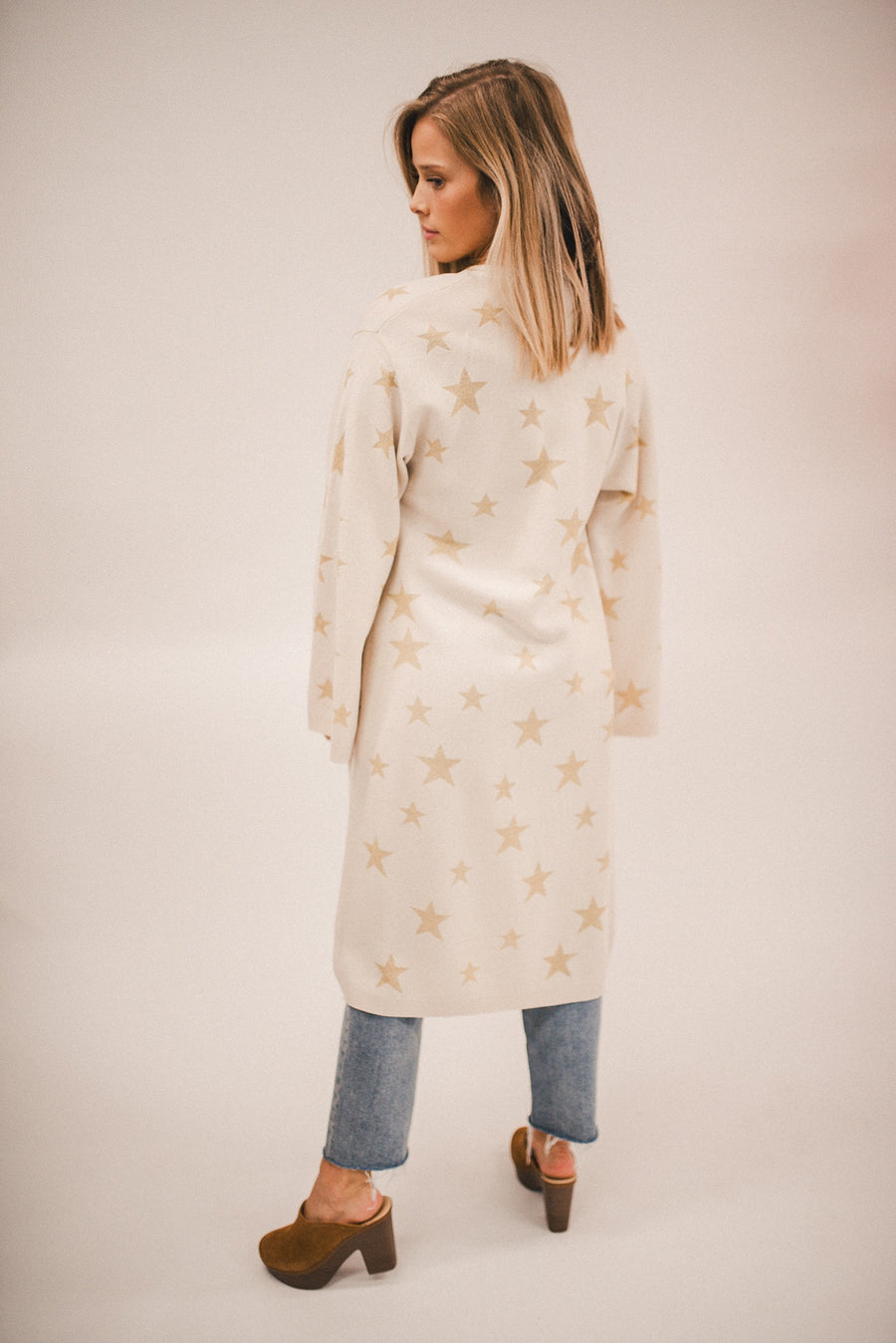 CHASER: STAR INTARSIA DUSTER
