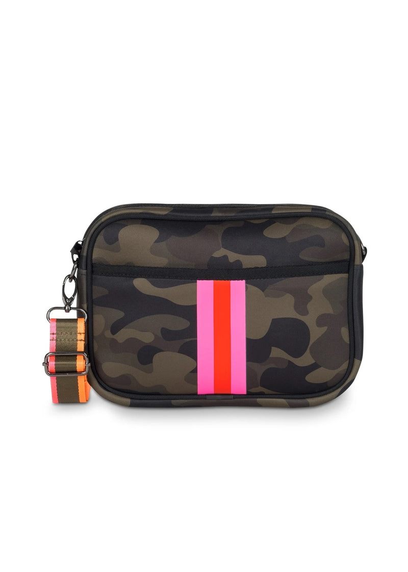 HAUTE SHORE: DREW SHOWOFF CROSSBODY BAG-GREEN CAMO