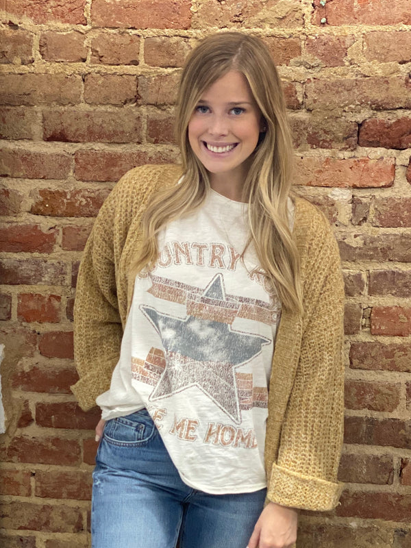 SHOW ME  YOUR MUMU: COOPER TEE-COUNTRY ROAD GRAPHIC