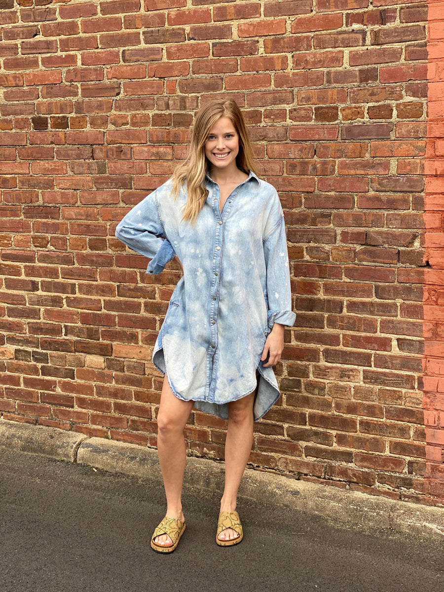 FREE PEOPLE: TUSCAN DENIM TUNIC-INDIGO