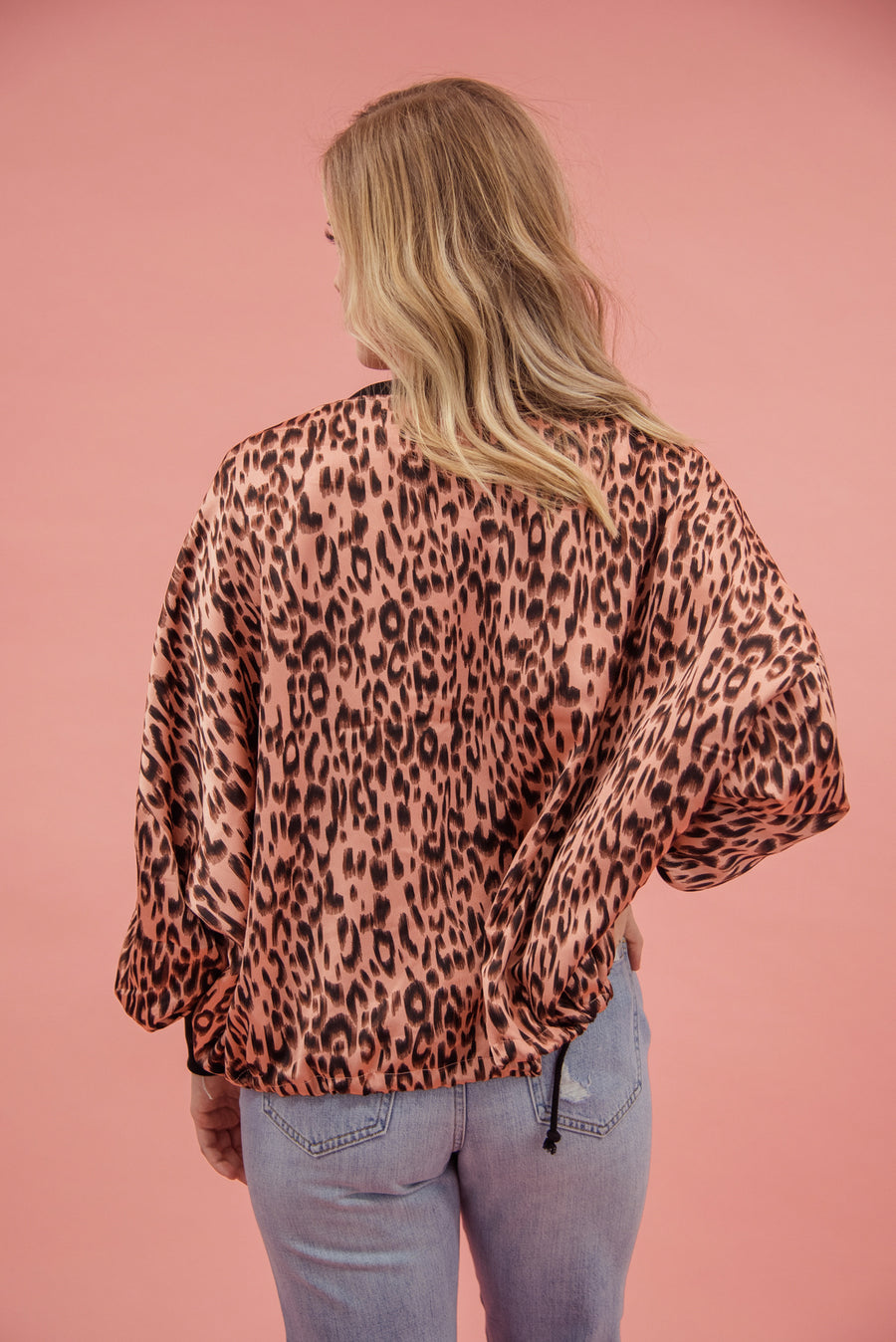 JACK BY BB DAKOTA: LIKE IT RAWR CHEETAH BOMBER-ROSE