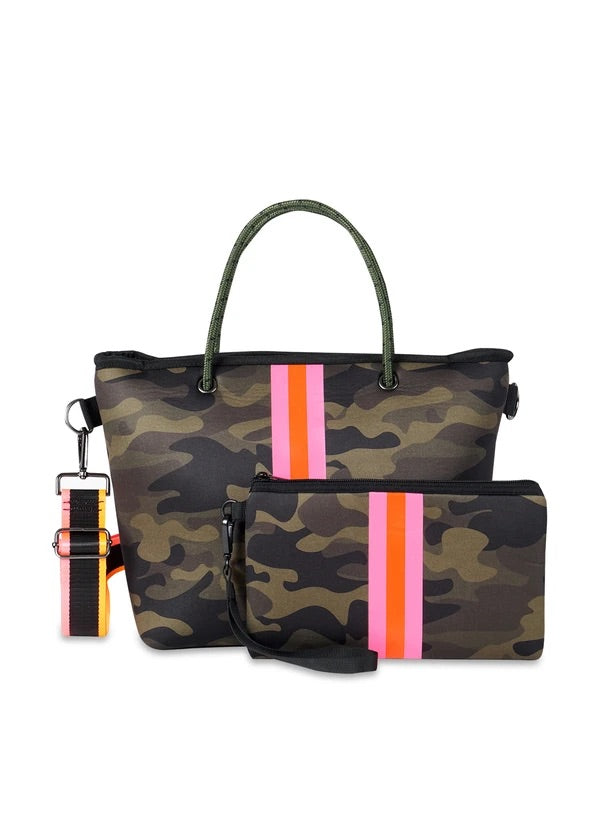 HAUTE SHORE: RYAN FIX MINI TOTE-GREEN CAMO