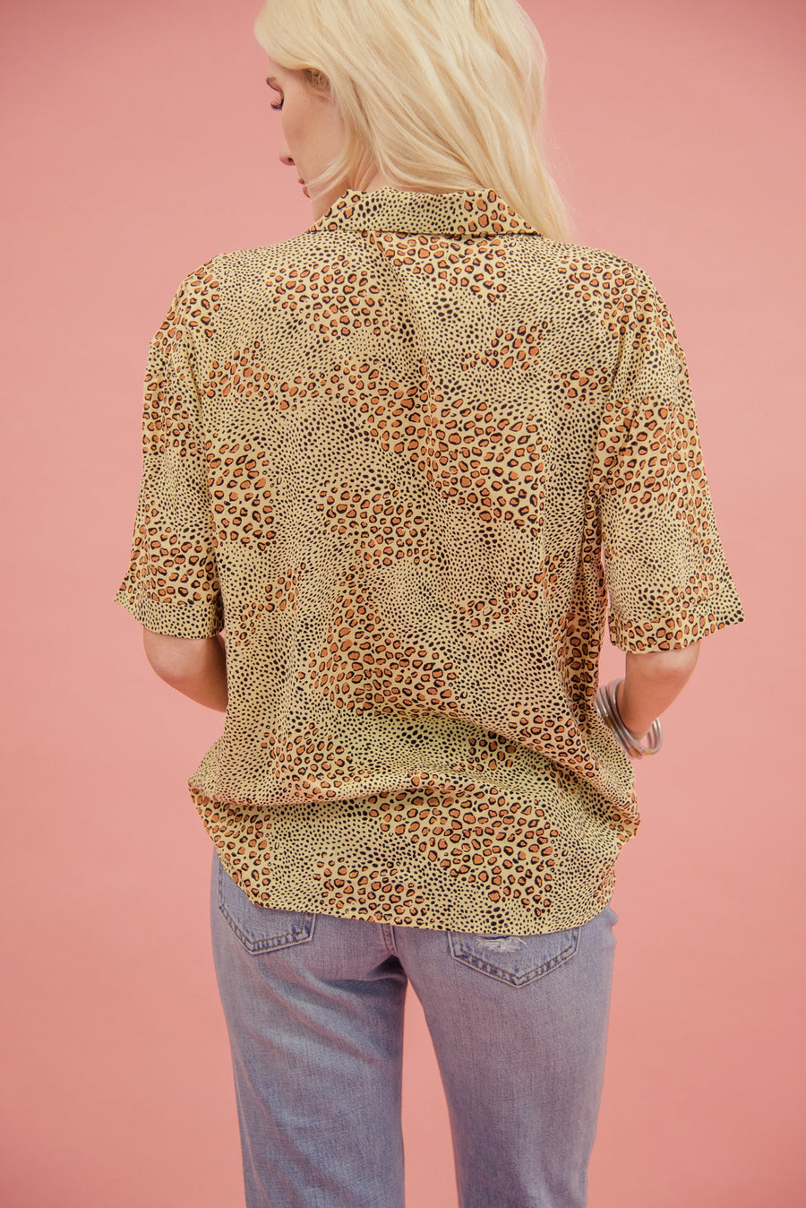 AMUSE SOCIETY: WILDCAT SHORT SLEEVE BLOUSE