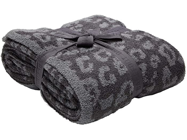 BAREFOOT DREAMS: COZYCHIC BAREFOOT IN THE WILD THROW-GRAPHITE/CARBON