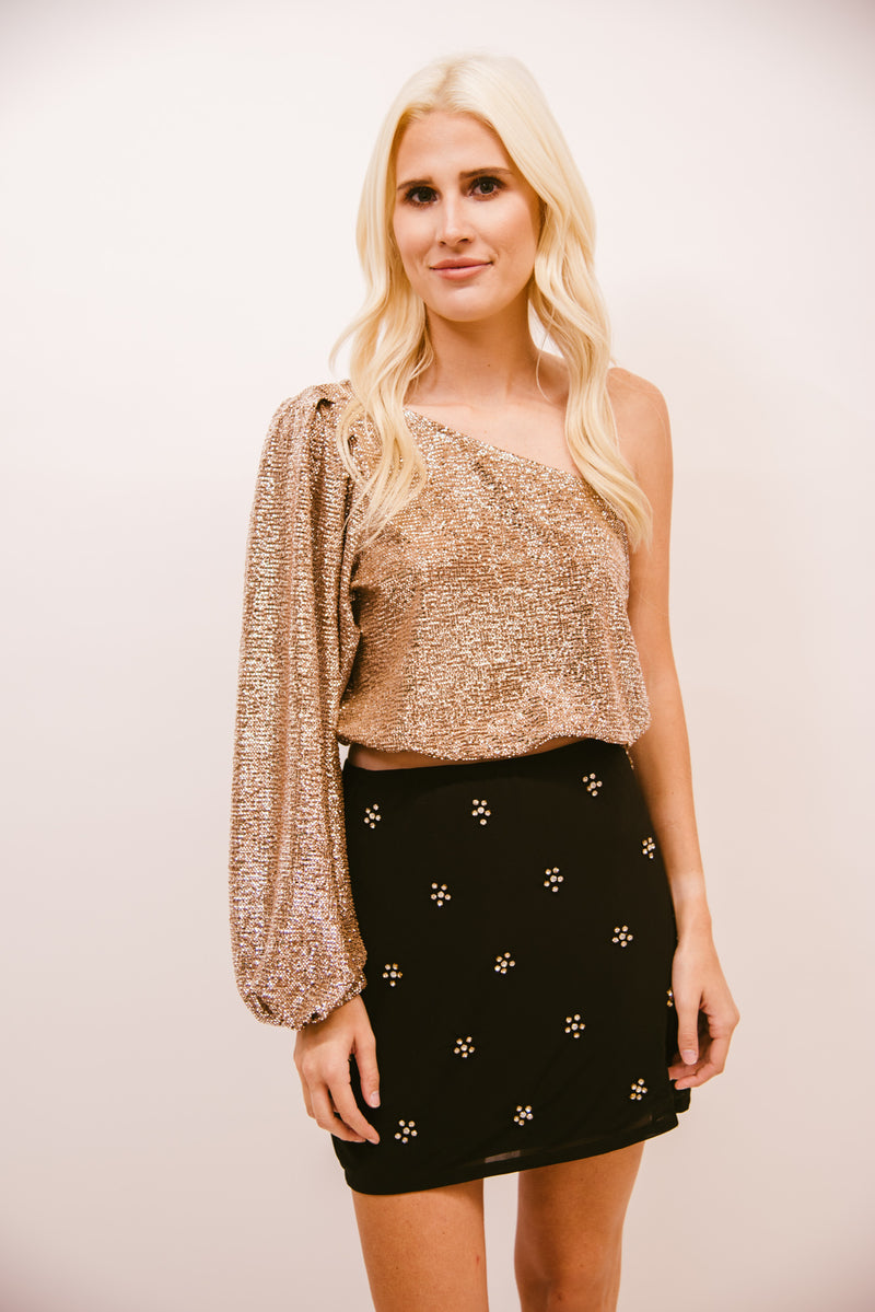 SHOW ME YOUR MUMU: PARTY TOP-SILVER CONFETTI