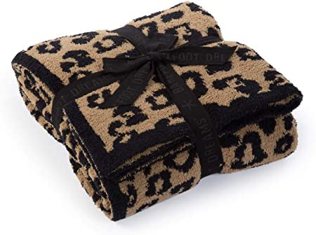 BAREFOOT DREAMS: COZYCHIC BAREFOOT IN THE WILD THROW-CAMEL/BLACK