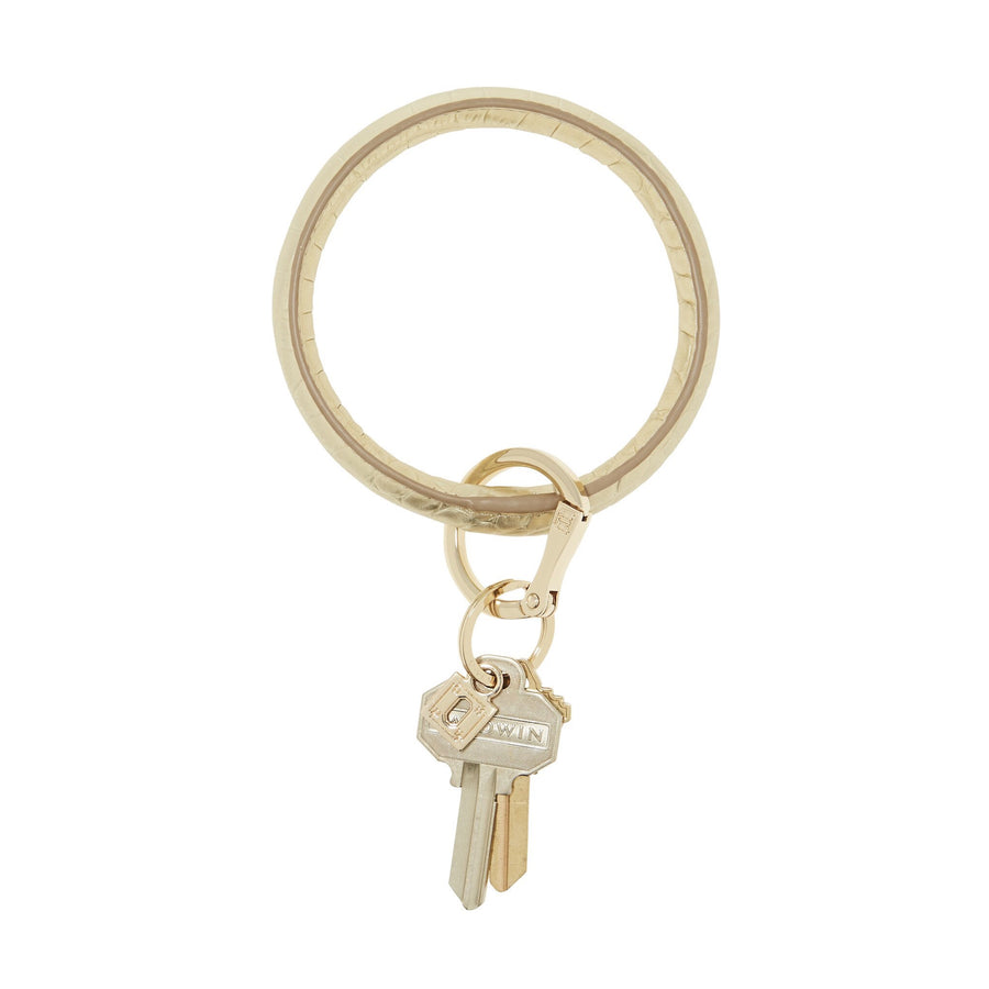 O VENTURE: SOLID GOLD RUSH CROC BIG O KEY RING