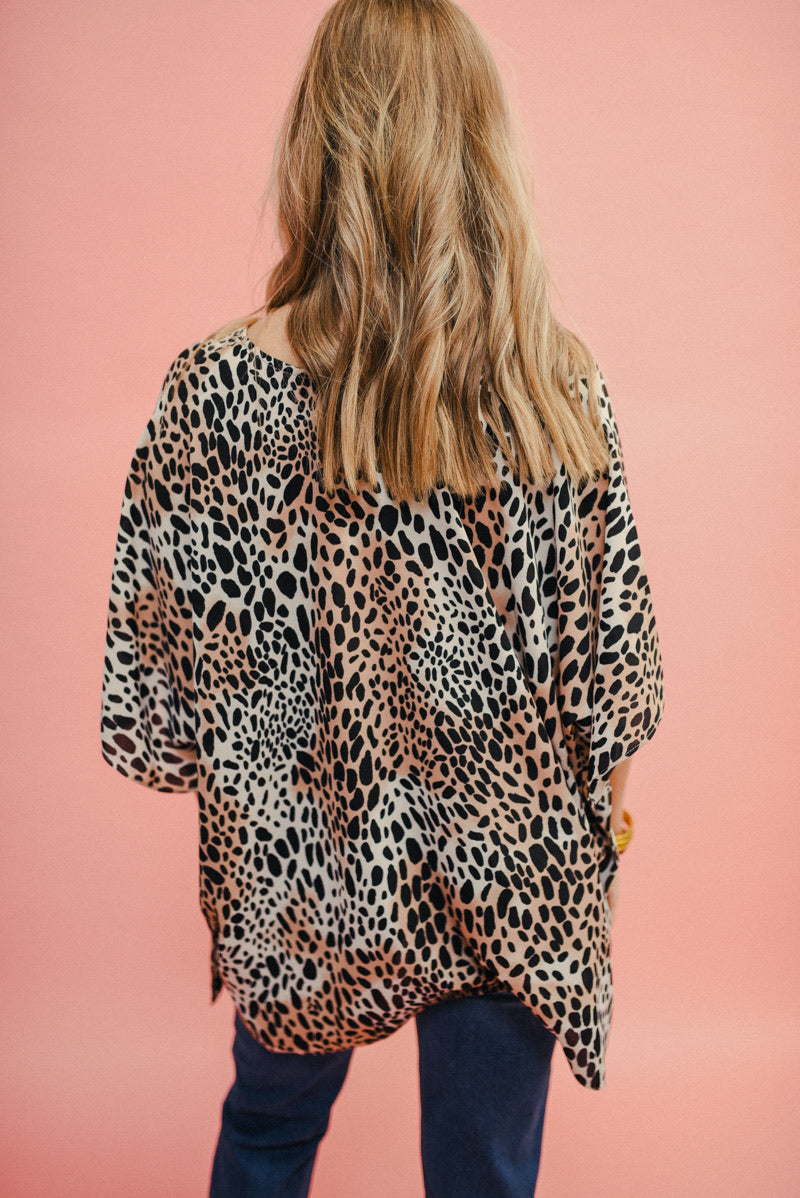 BUDDY LOVE: NORTH TUNIC-CHEETAH