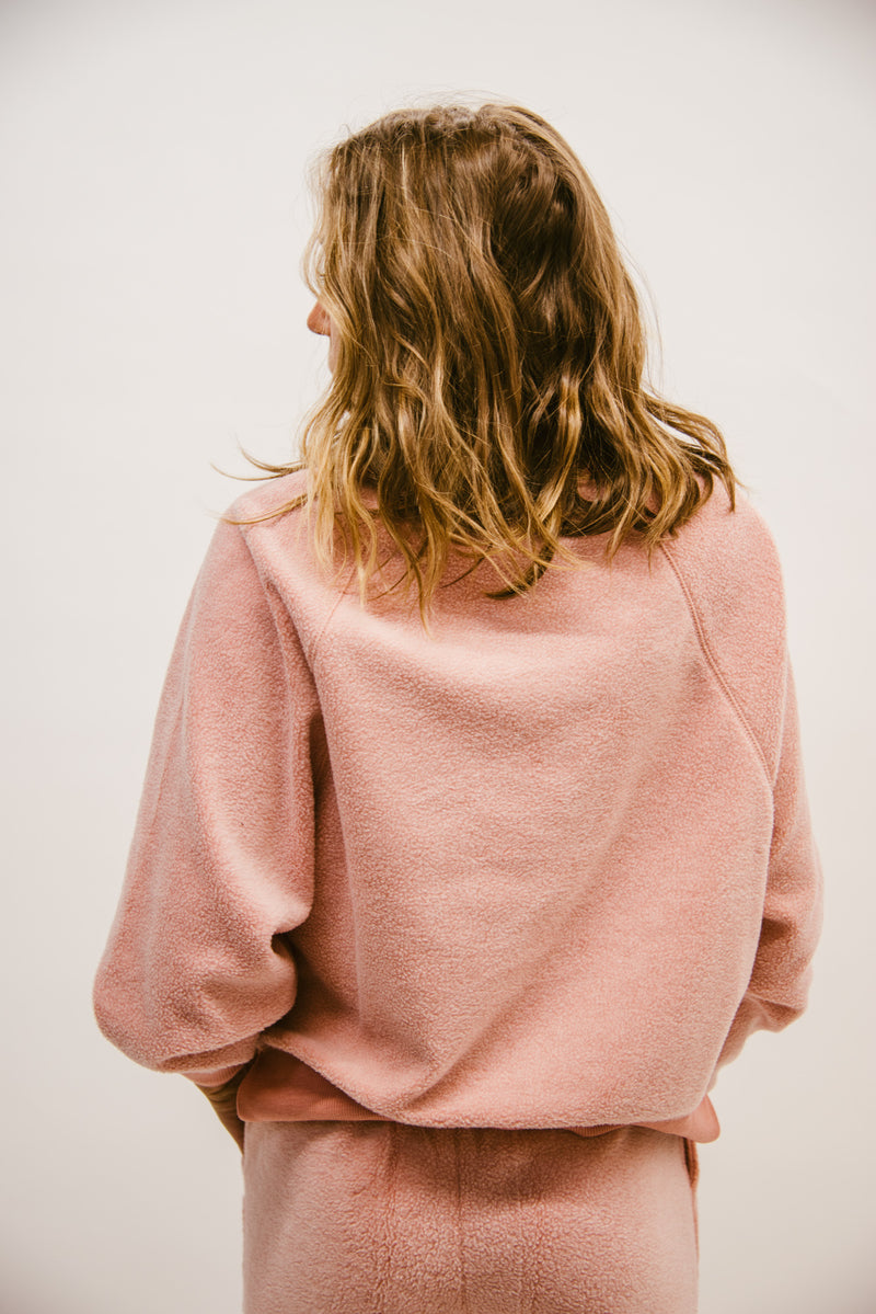 Z SUPPLY LOUNGE: SLEEP OVER RAGLAN SWEATSHIRT-WILD FLOWER