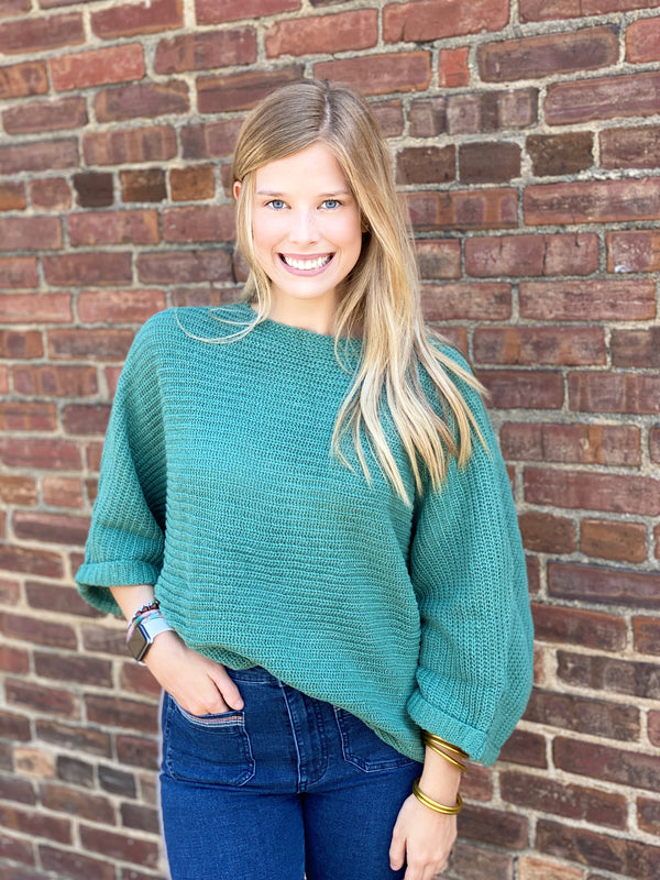 CHALET SWEATER-GREEN