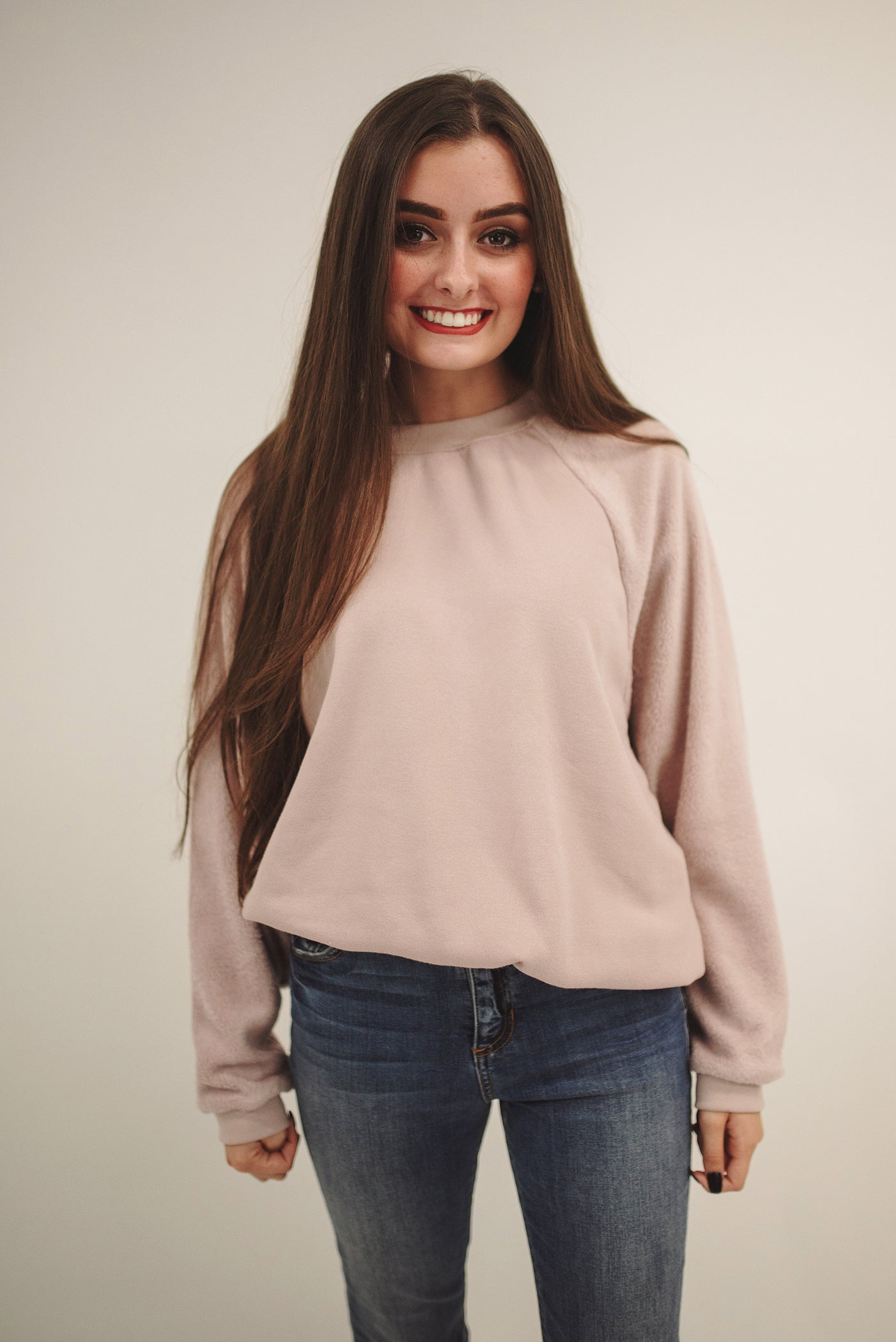 24769774c734 Z SUPPLY  THE ARGO OVERSIZED PULLOVER -PINK DUST