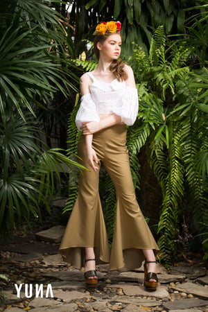 Khaki Asymmetrical Pants