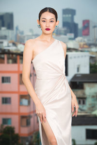 Maturity One Shoulder Knot Gown
