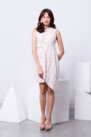 Maturity Flower Lace Dress