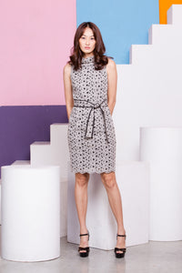 Maturity High Collar Dress