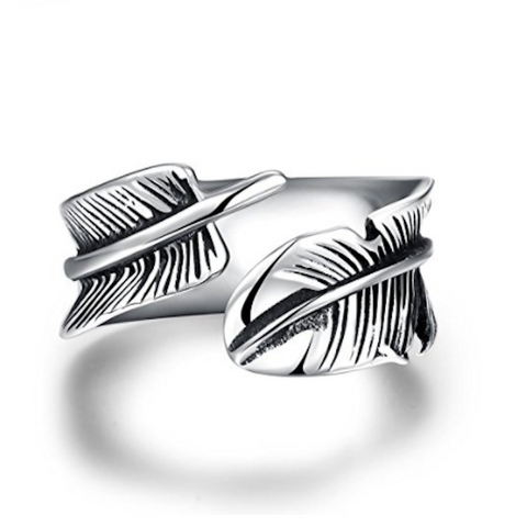 Feather Ring- Stainless Steal