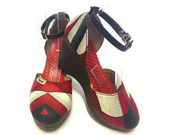 African Queen Wedges - Harlequin