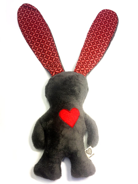 African Love Bunny Grey & Red