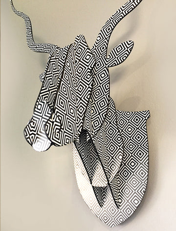 3D Animal Head - Kudu – African Print