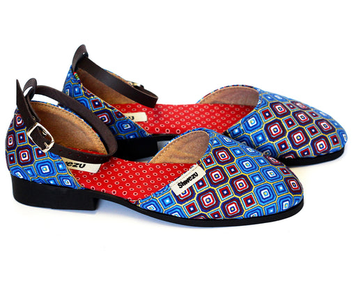 Flat Closed Sandals - Blue Diamond