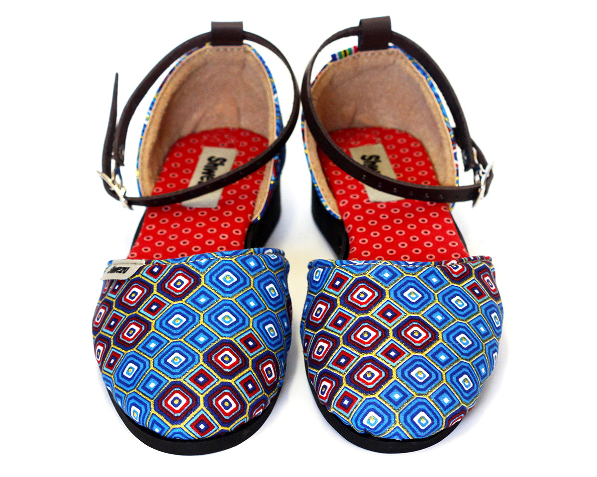 Charming Closed Sandals - Blue Diamond