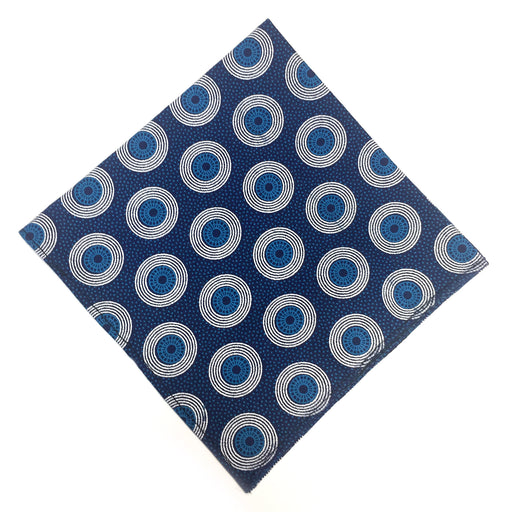 Shweshwe Pocket Square - Navy & Black